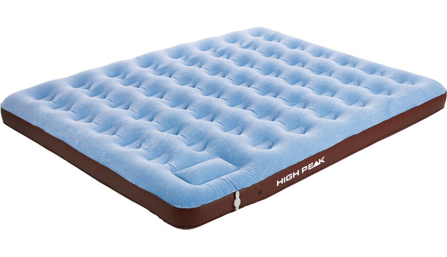 High Peak Comfort Plus Extra Long Campingbed King bruin/blauw